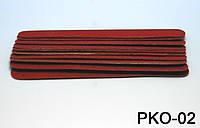 Набор одноразовых пилочек 11,5 см 10 шт в упаковке красные, пилка одноразовая YRE PKO-02, одноразовые пилочки