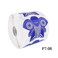 Форма для наращивания ногтей бабочка сиреневая, форма YRE FT-06, бабочка для наращивания