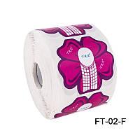 Форма для наращивания ногтей цветок, форма YRE FT-02-F, формы технология наращивания