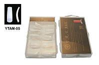 Типсы белые (б/к) 100 шт упаковка, типсы YRE YTAM-05, ногти на типсы