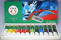 Акриловые красок набор 12 цветов 12мл, краски акриловые YRE YDD для дизайна ногтей, акриловая система