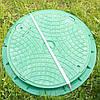 Люк  канализационный зеленый
