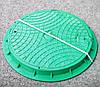 Люк  канализационный зеленый, фото 2