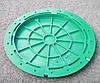 Люк  канализационный зеленый, фото 3