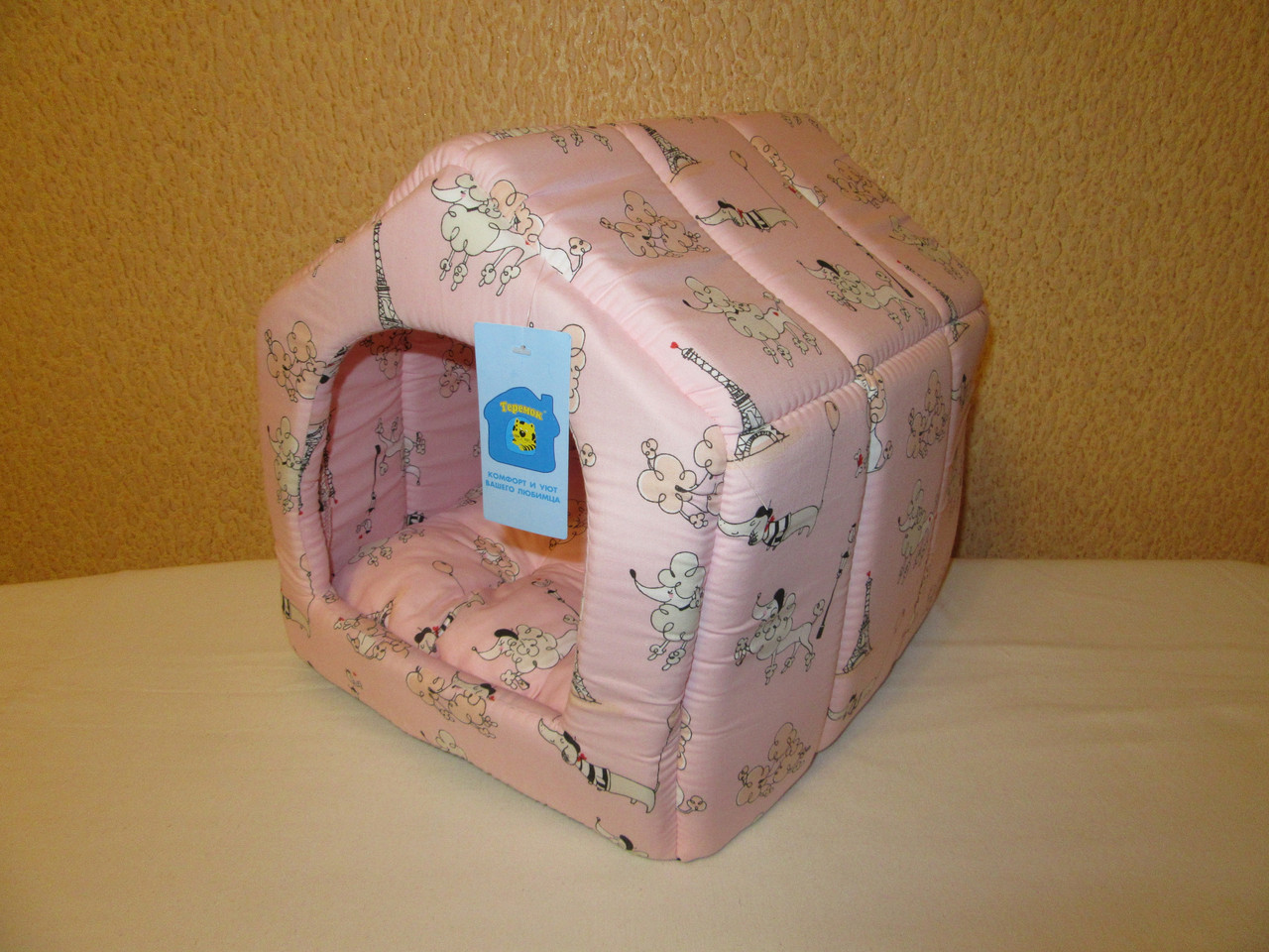Будка Collar №1 размер 30х35х35, розовая