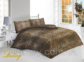 Евро комплект постельного белья Леопард