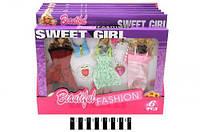 """Набір плать для ляльок  з мультф.""""Sweet Girl"""" ( коробка 6 шт) S06 р.33*25*2 см./144/"""