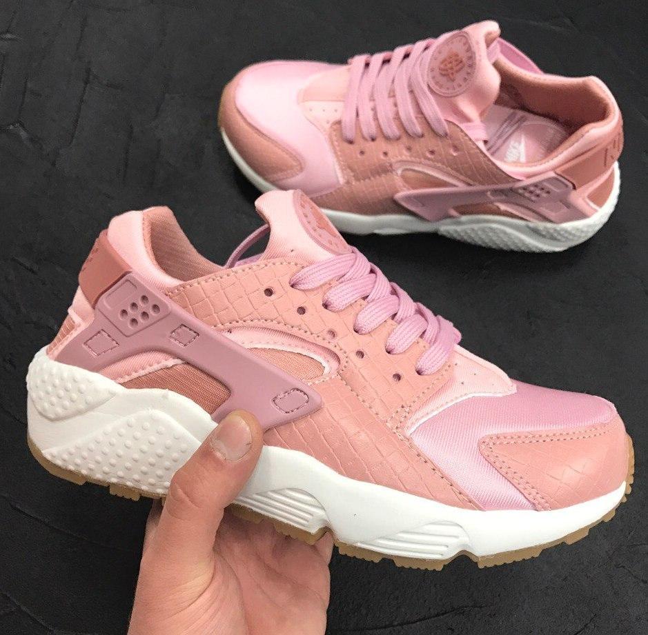 Женские кроссовки Nike Air Huarache Pink/White