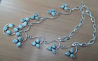 """Изысканное серебряное колье с ларимарами  """"Королевское"""" от студии LadyStyle.biz, фото 1"""