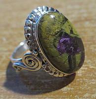 """Серебряное кольцо с атлантиситом """"Лето"""" , размер  16,4 от студии LadyStyle.Biz"""