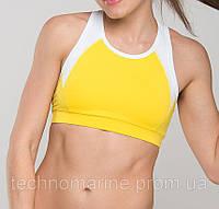 Женский эластичный спортивный топ высокий