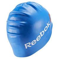 Силиконовая шапочка для плавания reebok синяя BK6472