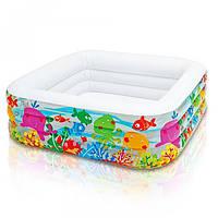 Детский надувной бассейн – Голубая лагуна Intex 57471 159х159х50см