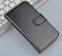 Кожаный чехол-книжка  для Lenovo A820 черный