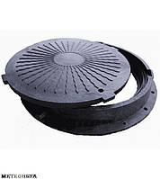 Люк полимерный для кабельных колодцев ГТС с з/у (черный3 т.)
