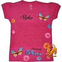 """Детская футболка """"Styles"""" , из трикотажа , принт , тиснение , для девочек (рост 92-152 см) 8 ед. в уп."""