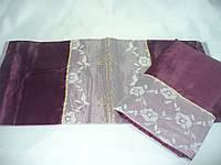 Набор  шелк с крестом бордо, фото 1