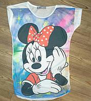 Женская футболка Микки 3 Евро стиль Одесса