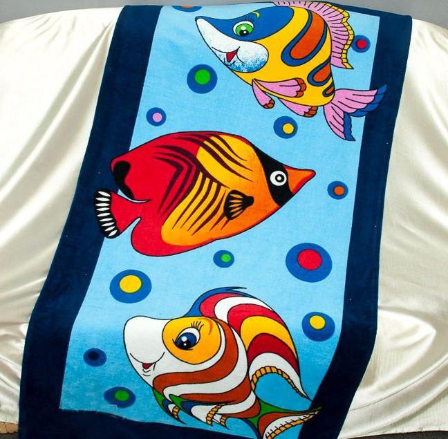 ТМ TAG Полотенце пляжное Рыбки