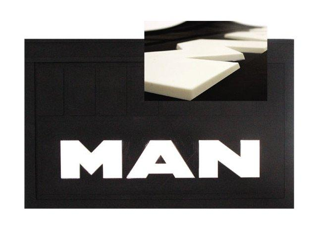 Купить брызговик на грузовик МАН 36*52 см (объемный текст)