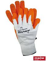 Защитные перчатки тканевые с латексным покрытыем, 8-10 размеры, Польша