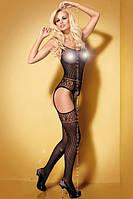 Эротический бодикомбинезон Obsessive Bodystocking G307 black, фото 1
