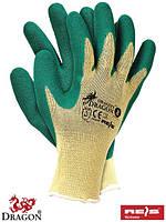 Рабочие перчатки трикотажные с латексным покрытием, 7-11 размеры, Польша