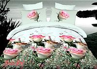 """Комплект постельного белья семейный, п/э 3D """"Свежие розы"""""""