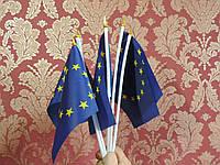 Флаг (флажок) Евросоюза на присоске 20х15 см.