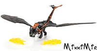 Беззубик с огненными крыльями, (32см), Как приручить дракона, Spin Master, Беззубик с огненными крыльями