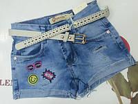 Детские джинсовые шорты для девочки на 5 , 6  ,  7  ,  8 , 9 ,  10 , 11 лет
