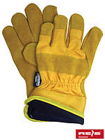 Защитные перчатки рабочие кожаные