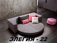Кровать круглая Элегия-22 (Мебель-Плюс TM)
