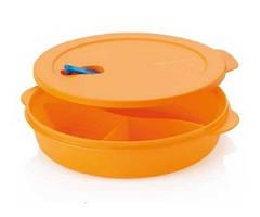 Блюдо Новая Волна с разделителями для СВЧ Tupperware в оранжевом цвете