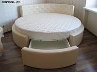 Кровать круглая Элегия-23 (Мебель-Плюс TM)