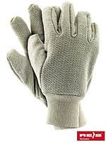 Перчатки рабочие с махровыми манжетами с резинкой