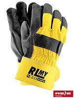Защитные перчатки усиленные кожаные