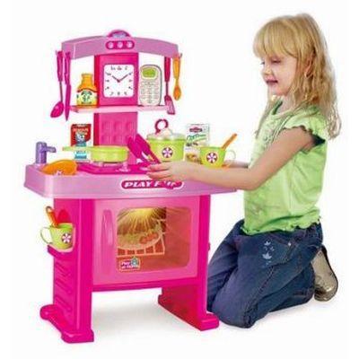 """Кухня детская """"Кухня маленькой господинi"""". Реалистичная кухня - звук, свет, набор детской кухонной посуды. - """"Витира"""" оптово-розничный магазин.Учтем интерес каждого. в Одессе"""