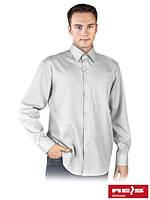 Хлопковая рубашка с длинным рукавом