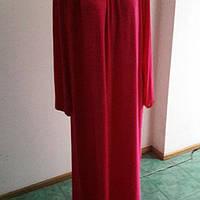 Платье красное летнее длинный рукав большой размер