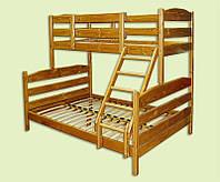 Трехместная двухъярусная кровать-трансформер Ирель