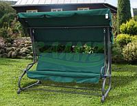 Садовая качеля - диван 4-х местная раскладная Зелёная В НАЛИЧИИ + 2 подушки в подарок