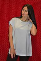 Нарядная женская блузка без рукавов