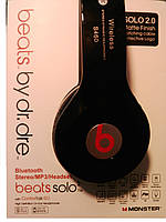 Наушники беспроводные Solo HD Beats S460. Блютус гарнитура S460 (Bluetooth+SD card+FM+with cable)