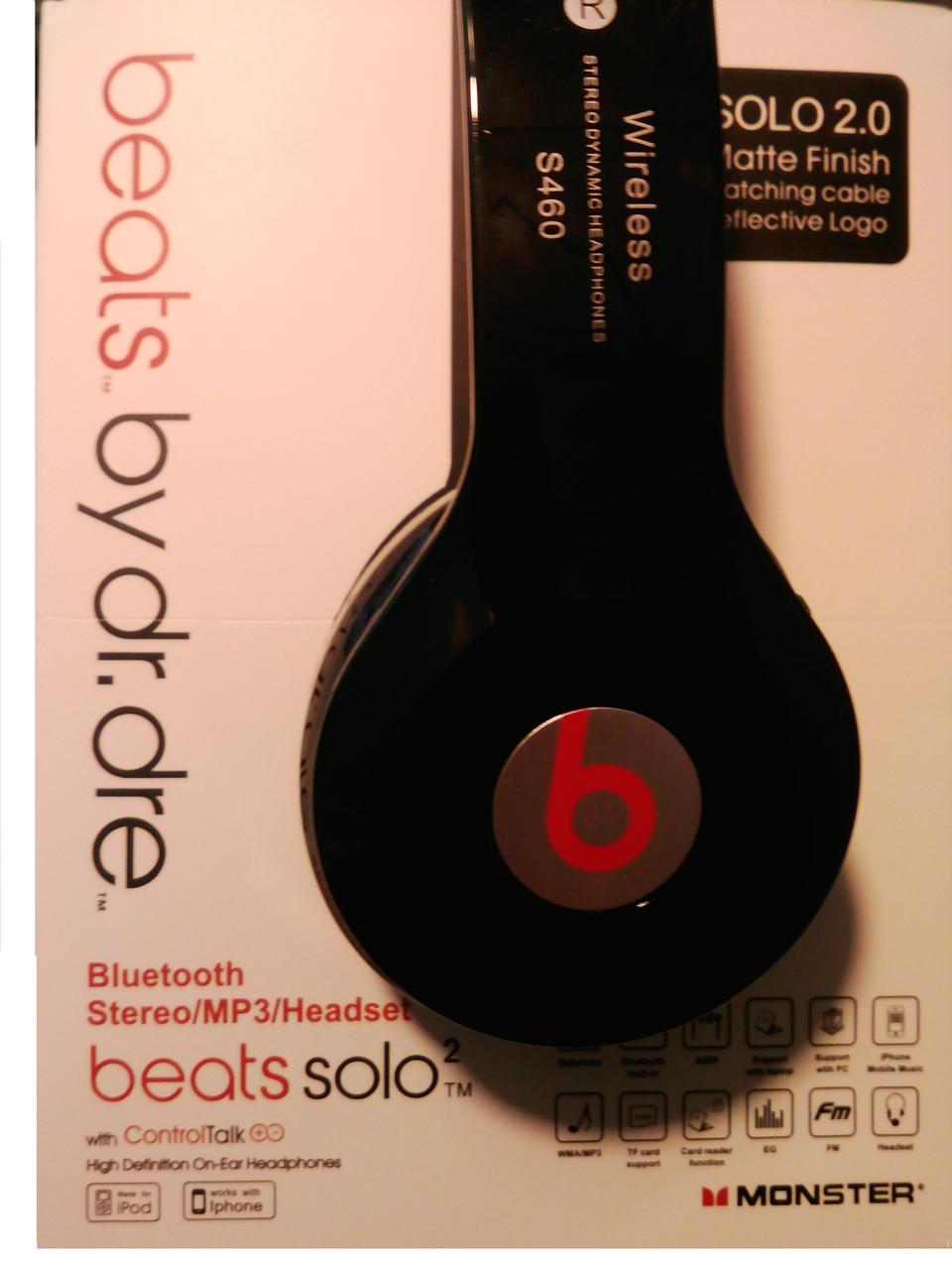 Наушники беспроводные Solo HD Beats S460. Блютус гарнитура S460 (Bluetooth+SD  card+ d07e8c8308f1b