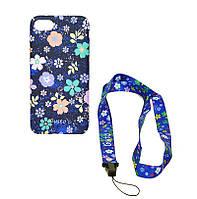 Силиконовый чехол-накладка Gusto iPhone 6+ Flowers №4