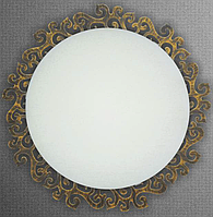 Круглый потолочный накладной светильник для ванной 2*60Вт Vesta Light 36120