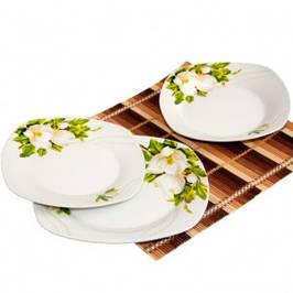 Тарелки и салатники из фарфора, керамики, ударопрочного стекла