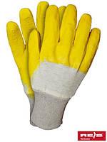 Рабочие перчатки тканевые с каучуковым покрытием, 10 размер, Польша