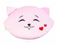 """Подушка """"Кошка-смайл"""" - влюбленный 48 см (ПД-0202)"""